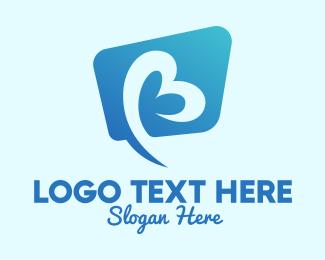 Speech Balloon - Talking Letter B logo design
