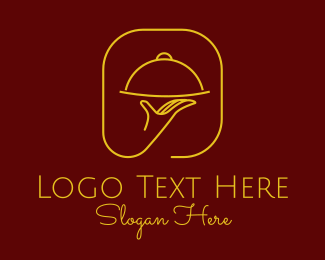 Waitress - Luxury Restaurant Server  logo design