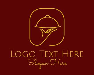 Restaurant - Luxury Restaurant Server logo design