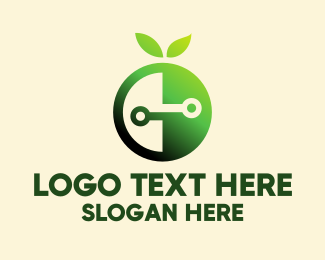 Brand - Green Fruit Electronics Brand  logo design
