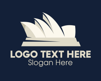 Harbour Bridge - White Sydney Opera House Harbor Landmark logo design