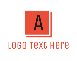 Red Square - Red Square Letter A logo design