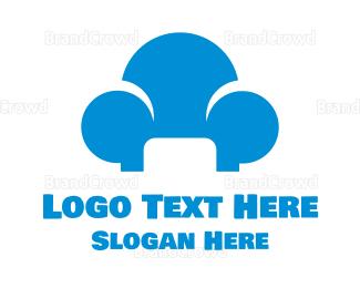 Comfortable - Blue Cloud Sofa logo design