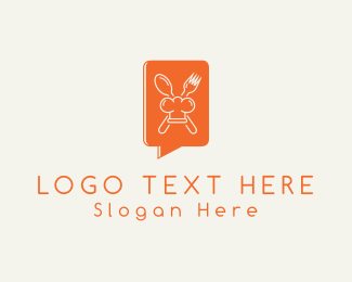 Orange Spoon - Gourmet Chat logo design