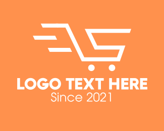 Shopping Delivery - Letter S Shopping Cart logo design