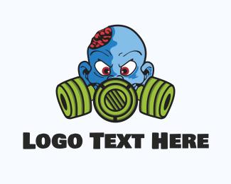 Horror - Blue Zombie  logo design