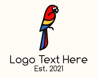 Macaw - Scarlet Macaw logo design