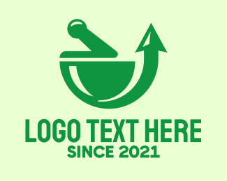 Upward - Green Pharmacy Arrow logo design