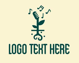 Root - Music Garden Sprout logo design