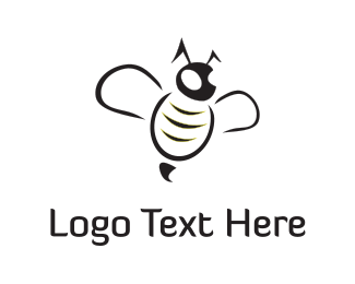 Bee - Black Bee logo design