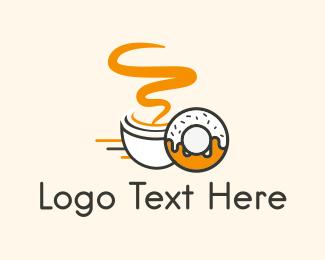 Hot Drink - Coffee & Donut logo design