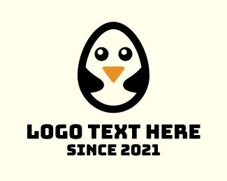 Penguin - Penguin Egg logo design