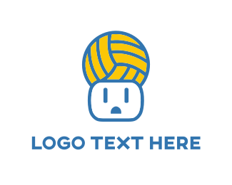 Blue And Yellow - Ball & Power Outlet logo design