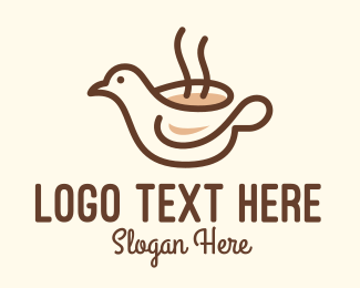 Coffe Shop - Bird Brewed Coffee logo design