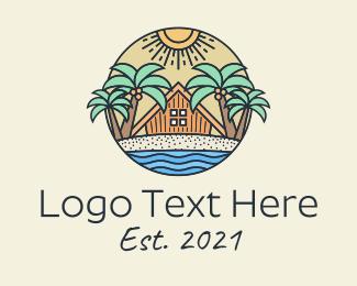 Lifeguard - Tropical Beach Hut Resort logo design