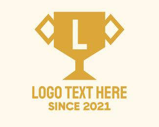 Gold - Gold Trophy Letter logo design