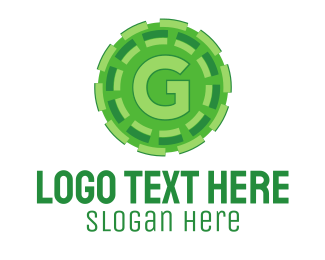 Cog - Green G logo design