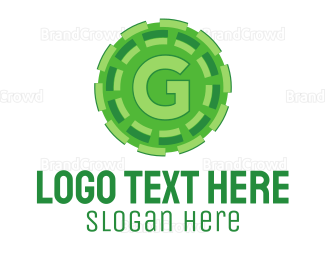 Crypto - Green G logo design