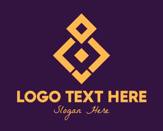 Tiles - Golden Elegant Pattern logo design