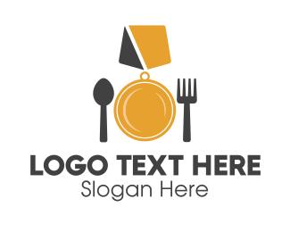 Recipe - Food Medal logo design