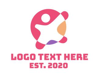 Child - Pink Child Daycare logo design