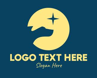 Animal Rescue - Night Dog Star  logo design