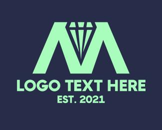 Jewelery - Diamond Letter M  logo design