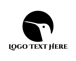 Colibri - Hummingbird Silhouette logo design