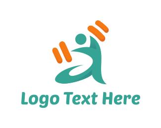 Weights - Fit Man logo design
