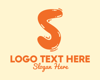 Flavored Drink - Liquid Soda Letter S logo design