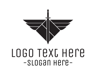 Fencing - Winged Sword logo design