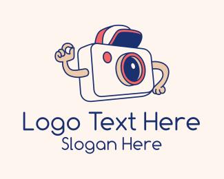 Photograph - Camera Boy Vlogger logo design