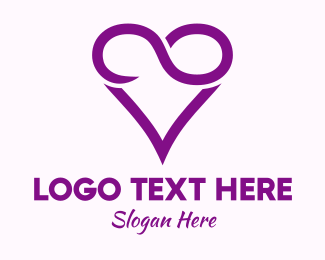 Dating Website - Violet Infinite Love  logo design