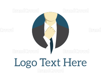 Bachelor - Corporate Man logo design