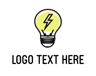 Innovation - Electric Bulb logo design