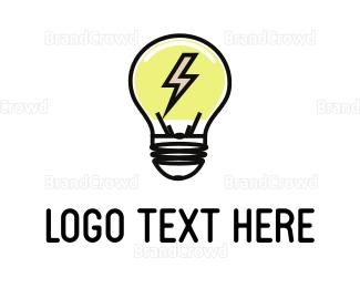 Electrical Energy - Electric Bulb logo design
