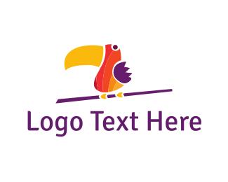 Indonesia - Colorful Toucan logo design