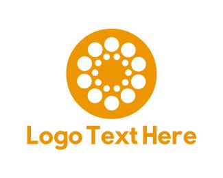 Orange And White - Orange Circle logo design