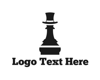 Bishop -  Pawn  Hat logo design