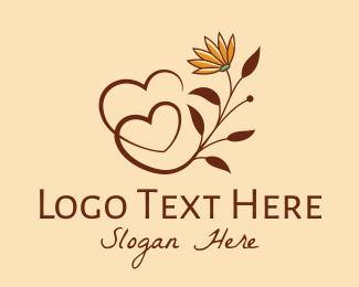 Centerpiece - Daisy Flower Hearts  logo design