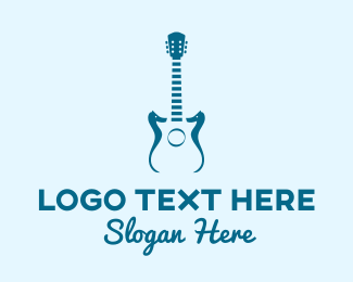 Rockstar - Seahorse Guitar  logo design