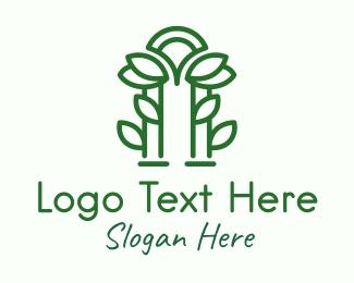 Arch - Green Garden Arch logo design