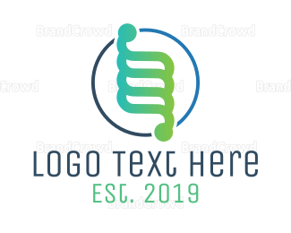 Biology - Colorful DNA Badge logo design