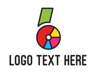 Six - Number Six Pie logo design