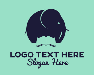 Study - Elephant Education Book logo design