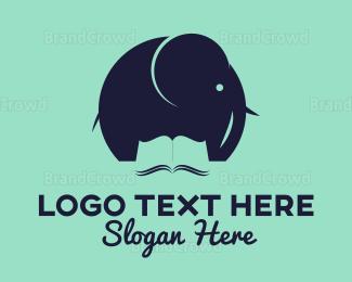 Elephant - Elephant Book logo design