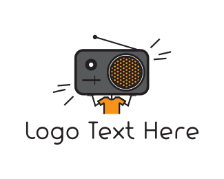 Retro - Radio Head logo design