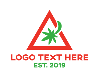 Eliquid - Red Hazard Marijuana logo design