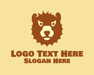 Brown Bear - Angry Brown Bear logo design