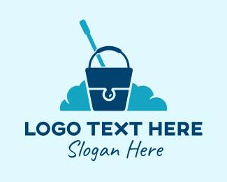 Bucket - Cleaning Bucket  logo design